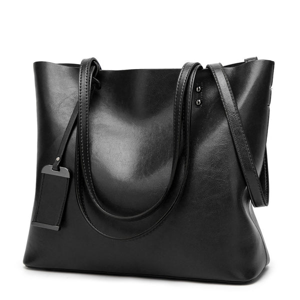 GORONLY Brand New Leather Tote Bag Women Handbags Designer Large Capacity Shoulder Bags Fashion