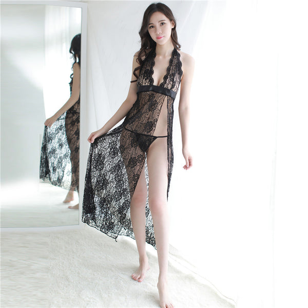GOYHOZMI lace full slips hot women intimates long lace underwear fashion lace slip