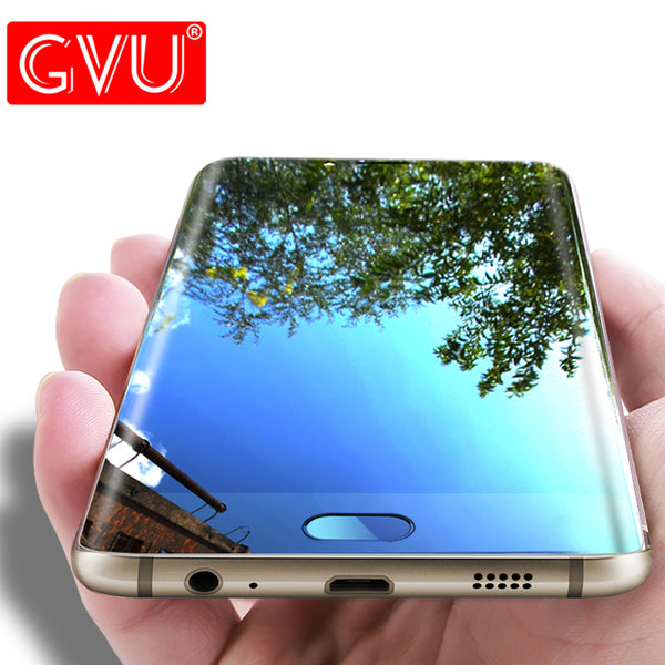 GVU 3D Tempered Glass For Samsung Galaxy S6 Edge Full Cover Screen Protector Film For S6 Edge Plus Premium Glass Protective Film