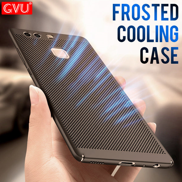 GVU Luxury Heat Dissipation case For Huawei P9 P10 Lite P10 Plus hard pc back cover For Huawei P8 Lite 2017 Honor 8 Lite Shell