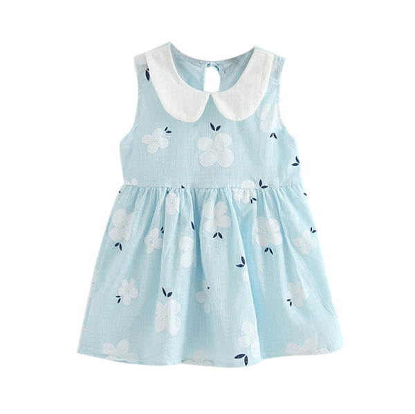 Girl Dress 2018 Summer Children Sleeveless Toddler Girls Summer Princess Dress Kids Baby Party Wedding Sleeveless Dresses