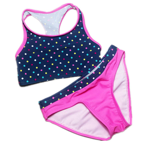 Girls Bathing Suits biquini infantil swimwear girls Kids swimming suit two pieces bathing suit