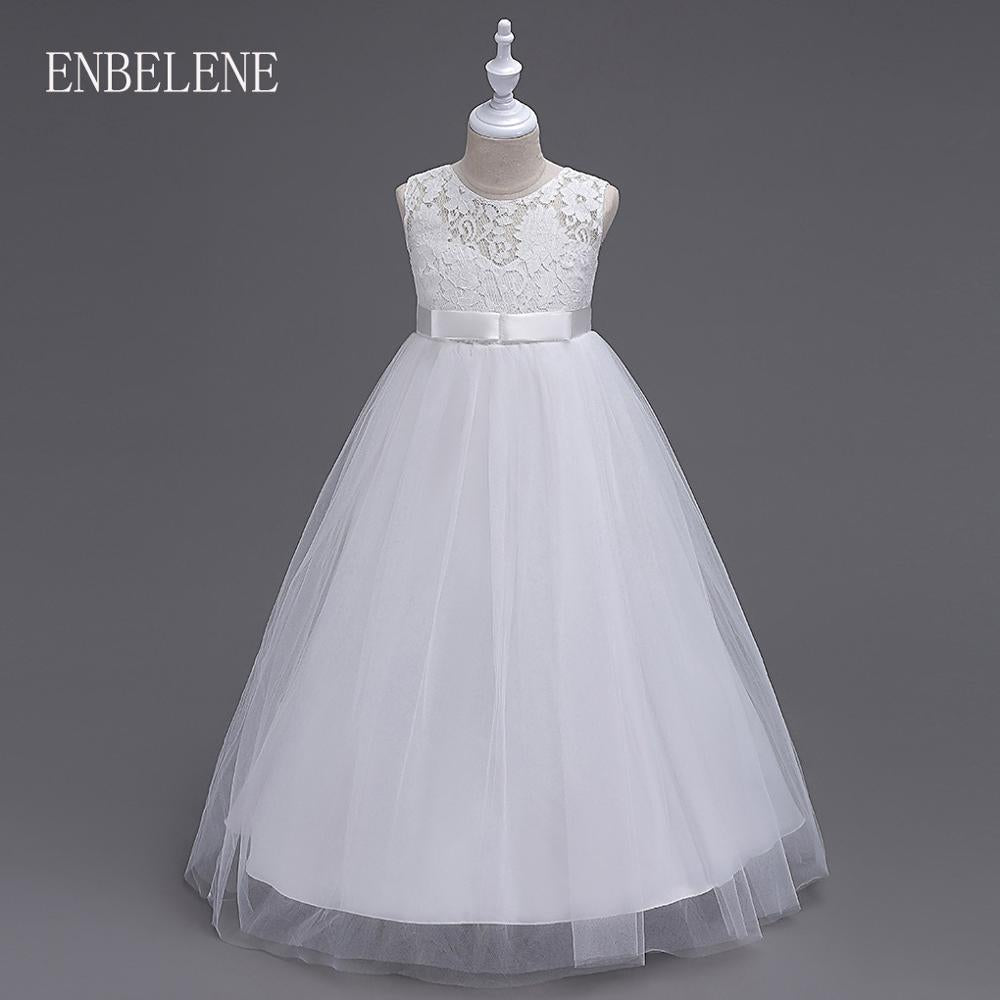 Girls Full Dress for Children Champagne White Gray Purple Blue ... fb41ef70b