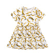 Girls Summer Dress Baby Girl Clothes Baby Girls Infant Kids Dinosaur Printing Dress Clothes Sundress Casual Dresses Clothing