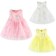 Girls Summer Dress Infant Toddler Baby Kids Clothes Girls Dress Pageant Swan Printed Sundress Outfits  Girl Dresses