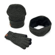Hat And Scarf Set For Women  Cotton Warm Knitted Hat Scarf Set for Male Female 3 Pieces Set Hats Touch Screen Gloves neck warmer