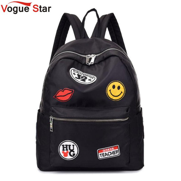 e5b1821deb6 High Quality Nylon Waterproof Women Backpack Fashion The Coat Of Arms  School Backpacks For Girls