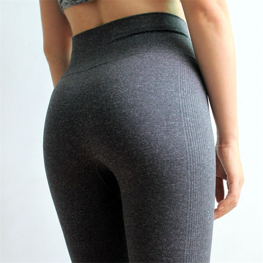 a90f6d7365 High Waist Yoga Pants For Women Seamless Compressed Fitness Gym ...