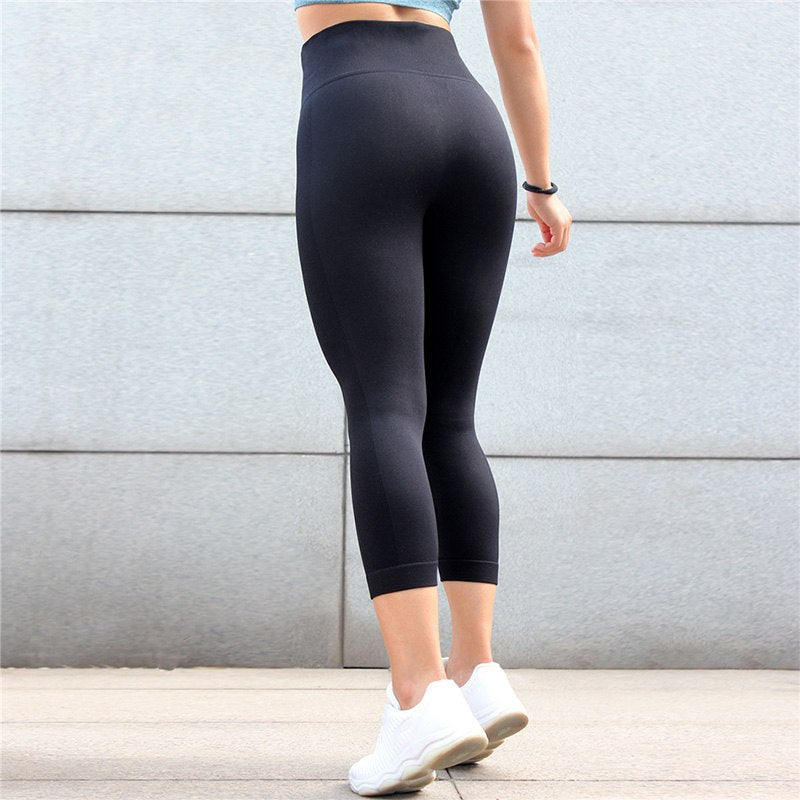 b01f7de49f High Waisted Compression Yoga Leggings Butt Push Up Seamless ...