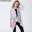 Hot Sale Casual Long sleeved Women Irregular Cardigan Female 2018 New Fashion Spring Autumn Womens Long Cardigan Coat Thin CS641