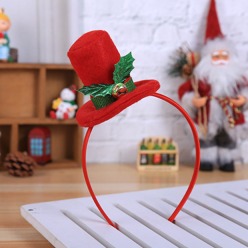 Christmas Hat Headwear Xmas Party Decor Double Hair Band Clasp Head Hoop Gift #t