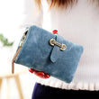 Hot Sale Women's purse 7 Colors Soft Matte Suede zipper tassel pendant women's wallet women