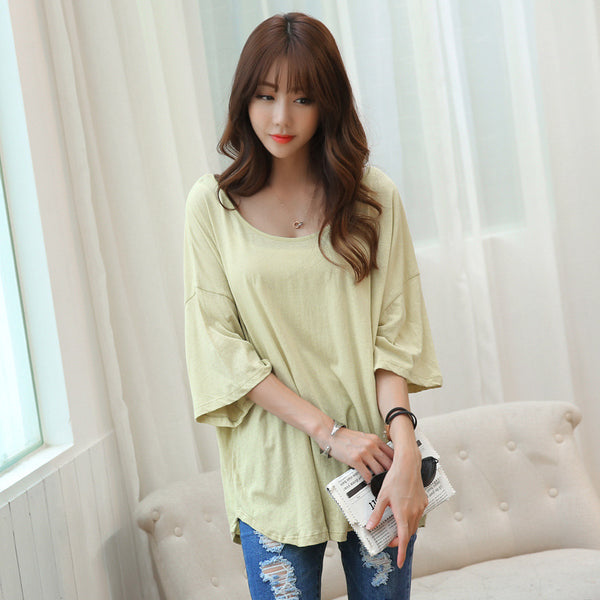 Hot Summer Casual Loose batwing sleeve T Shirt Women 2017 Short Sleeve Tshirt Female O Neck Tops Tee Shirt CS250