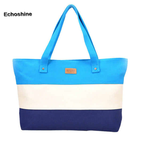 Hot sale Canvas Women Beach Bag Fashion Color Printing lady Girls Handbags Shoulder Bag Casual