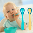 Hot temperature heat sensing baby cutlery for feeding dishes children spoon safety infant bewborn feeding prato infantil