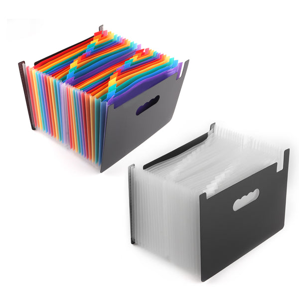 Houkiper A4 Size 24-Pocket Poly Expanding File Folder Organizer Jacket for Documents Bill