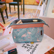 IUX Make Up Wash Organizer Zipper Storage Pouch Travel Handbag Travel Portable Organizer Bag Retro Flowers Waterproof Makeup
