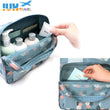 IUX New Fashion Women Floral Handbag Travel Hanging Bag Female Makeup Bags Portable Travel Organizer Large Kit Cosmetic Case