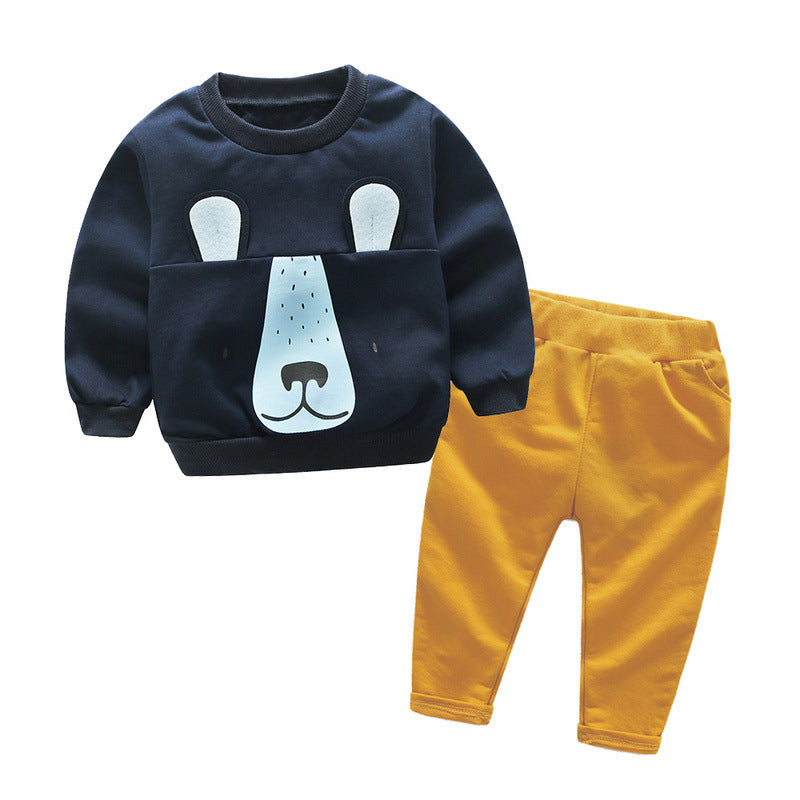 63e5783f22053 IYEAL New Fashion Baby Boy Cute Clothing 2pc Pullover Sweatshirt Top + Pant  Children Boys Clothes