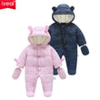 IYEAL Winter Children Baby Clothes Boys Girls Rompers Warm Thickening Hooded Infant Overalls for