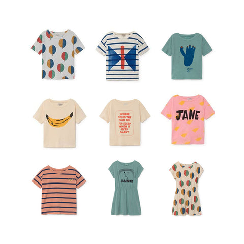 In Stock Loose Style Girls Boys T-shirts bobo choses 2018 Cotton Soft Summer Tops Teens Children