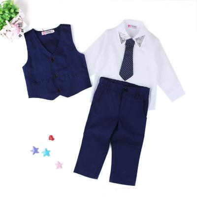 40d798cfe0eda Infant Baby Boys Suit Jackets 2018 New Cotton Dot Kids Suits Wedding Party  Blazers for Boy