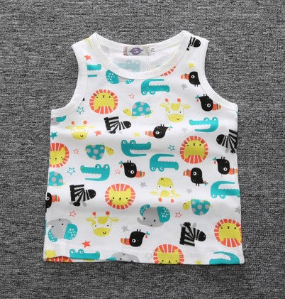 2cb22602e Infant Toddlers Cotton T-Shirt Baby Girls Boys Clothes Sleeveless ...