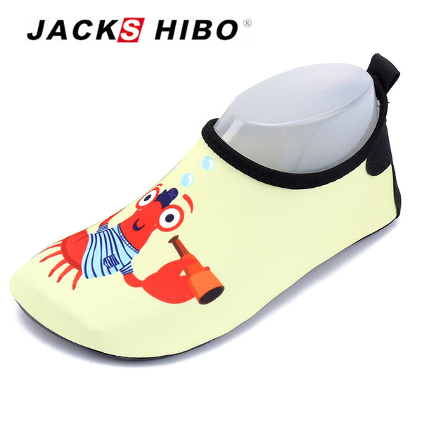 JACKSHIBO Kid Water Shoes Child Indoor Slippers Toddler Sandals Beach Shoes for Infant Barefoot Socks Baby First Walker for Kid