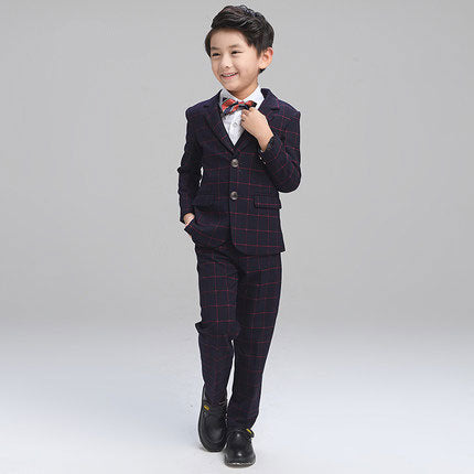 (Jacket+Pant+BowTie+Shirt+Vest) Boy Suits Flower girl Slim Fit Tuxedo Brand Fashion Bridegroon