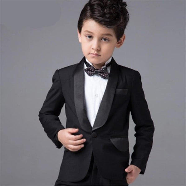 (Jackets+Vest+Pants+Tie+Cravat) Boy Suits Flower girl Slim Fit Tuxedo Brand Fashion Bridegroon