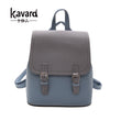 Kavard Brand Backpack Women Backpacks Fashion Small School Bags for Girls Black Scrub PU Leather