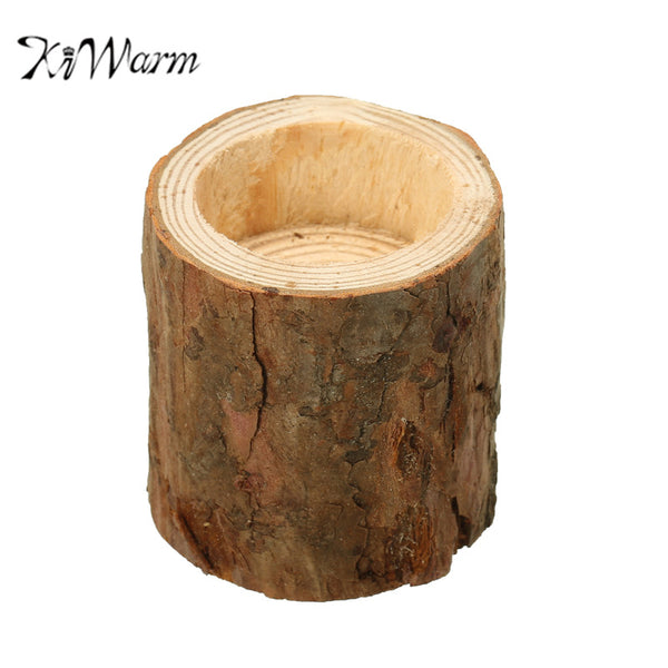 KiWarm Wooden Candlestick Candle Holder Table Desk Wedding Decoration Props Decoration Furniture Romantic Candlelight Dinner