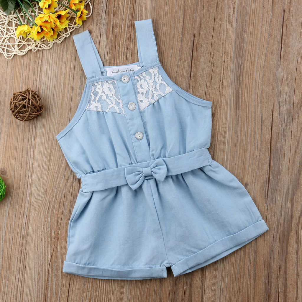 Girls summer outfits baby girls cotton Tee rompers kids daily overall outfits