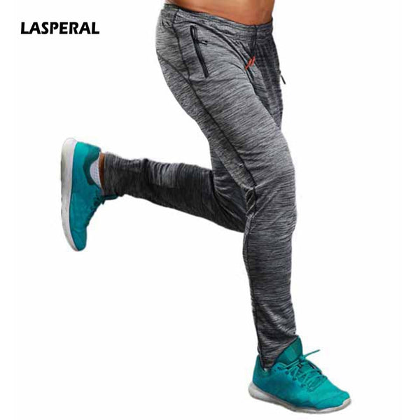LASPERAL Fitness Sports Pant Men Elastic Breathable Anti-sweat Pant Running Training Pants Gym Male Basketball Trouser Plus Size