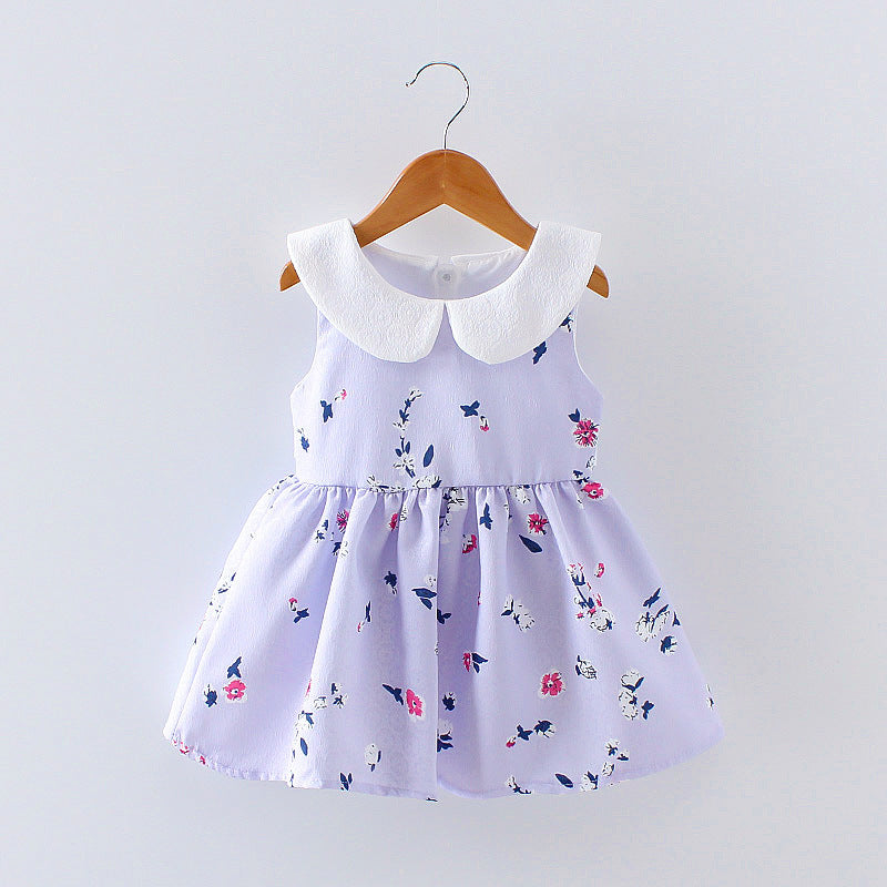 88dca9c51 LCJMMO 2017 Baby Girl Dress Summer Floral Princess Party Cute Cotton ...