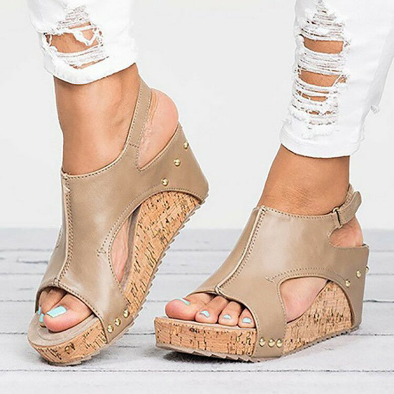 2f27641c8fb Laamei Women Sandals 2018 Platform Sandals Wedges Shoes For Women Heels  Sandalias Mujer Summer Shoes Clog Wedge Heels Sandals 43 – Beal