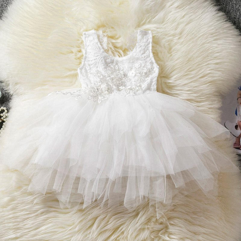 af652da0185ec Lace Princess Girl Tulle Dress V-back Design Tutu Cake Dress Kids ...