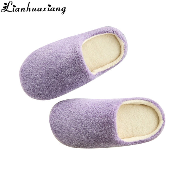 Lianhuaxiang Womens Mens Girls Winter Soft Warm Plush Shoes Slippers Indoor Home Carpet Floor