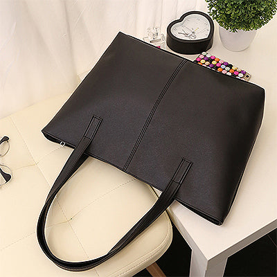 ac5d7caf8cac3 Light PU Leather Women Handbags Female Simple Soft Tote Bag Large ...