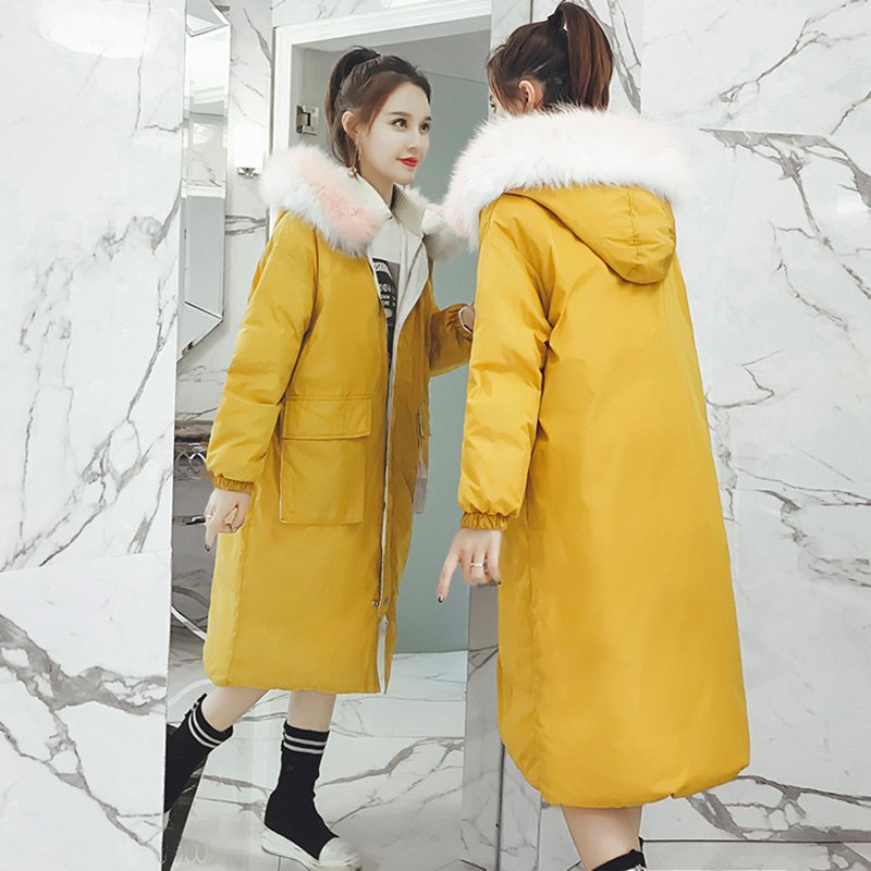 1f00000c154 Long down jacket for women 2018 winter thicken warm cotton coat women loose  cotton-padded coats female hooded cotton jacket coat – Beal | Daily Deals  For ...