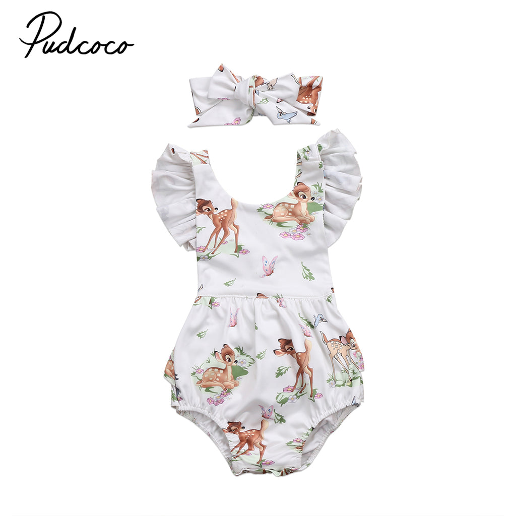 bc8f6877888 Lovely Baby Girl Clothes Toddler Infant Baby Girls Deer Romper Jumpsui –  Beal