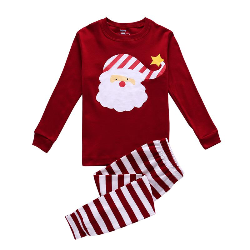 Lovely Santa Claus Print - Unisex Pajamas Set 080b0113c