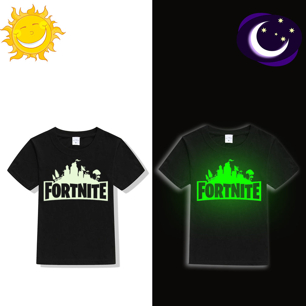 3450ad62 Luminous Fortnite Kids T Shirt Fluorescent Game Fortnite Logo Children T-shirt  Glow In Dark Boy Girl Summer Clothes Teens Tops – Beal | Daily Deals For  Moms