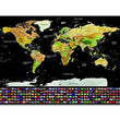 Luxury Edition Black Design Deluxe Scratch Map Travel Scratch World Map Best GiftEase Personalized Room Home Decoration Wall Sti