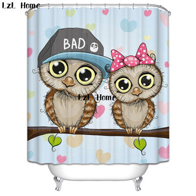 LzL Home Europe Style Eco Friendly Polyester Fabric Shower Curtains