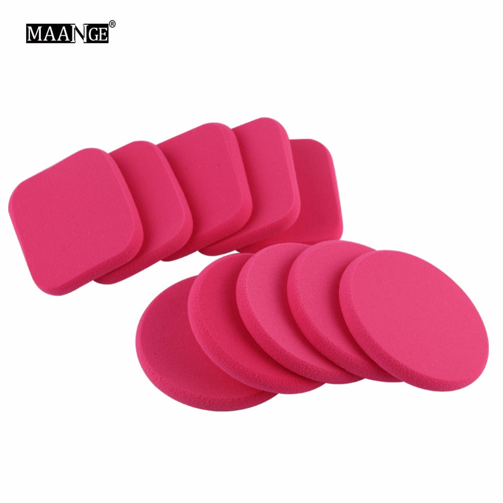 MAANGE 10Pcs Beauty Makeup Sponge Cosmetic Foundation Puff Soft Powder Face Make Up Tool Kits Grow
