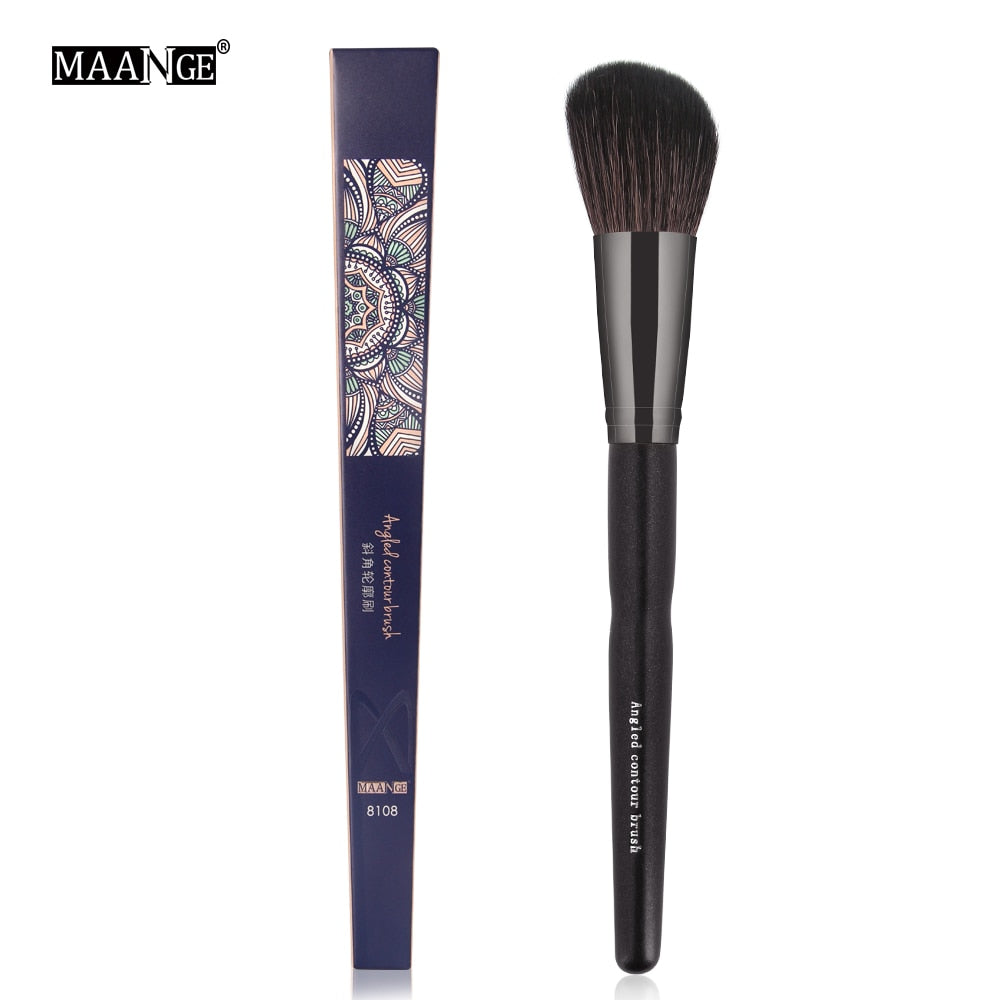 MAANGE 1Pcs Large Sculpting Blush Makeup Brush Professional Round Top Loose Powder Shadow Make Up