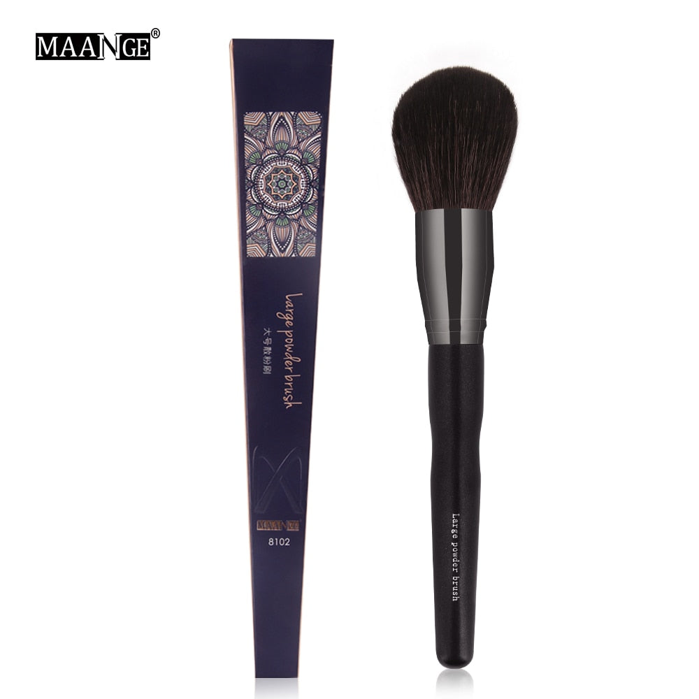 MAANGE 1Pcs Pro Makeup Brush Round Top Powder Blush Sculpting Cosmetic Make Up Brush Big Size Dense