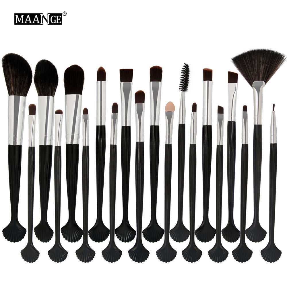MAANGE 20Pcs Cosmetic Makeup Brushes Set Beauty Foundation Powder Eye Shadow Lips Highlight Make Up