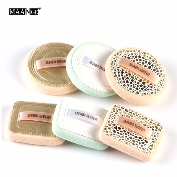 MAANGE 2Pcs Powder Foundation Makeup Sponge Cosmetics Puff Soft Face Ribbon Soft Make Up Beauty